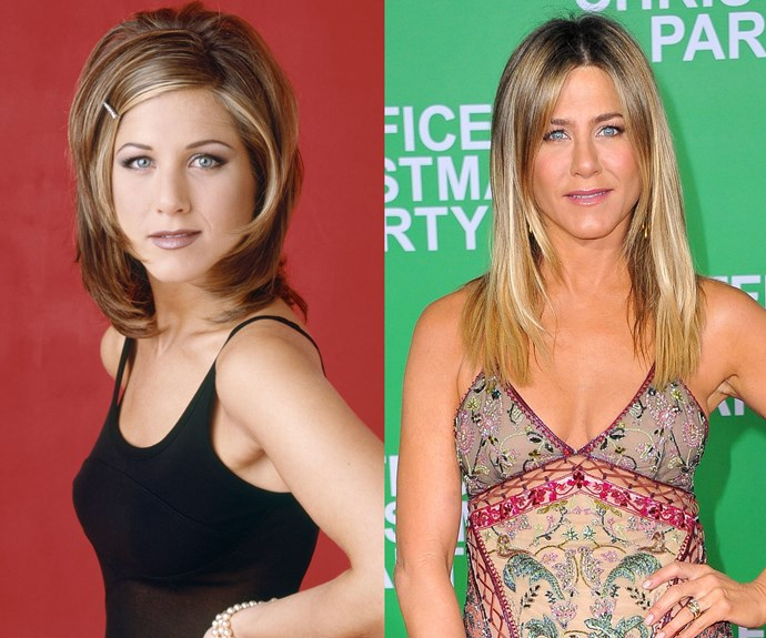 """Jennifer Aniston made it big on *Friends*, but it was *that* iconic hairstyle many of us remember more than her acting. """"The Rachel"""" cut become synonymous with the '90s, but as it turns out Jen wasn't all that thrilled with it. """"I was not a fan of 'The Rachel',"""" she told Glamour magazine. """"That was kind of cringey for me."""" One of the reasons she hated it was because it was too hard to maintain."""