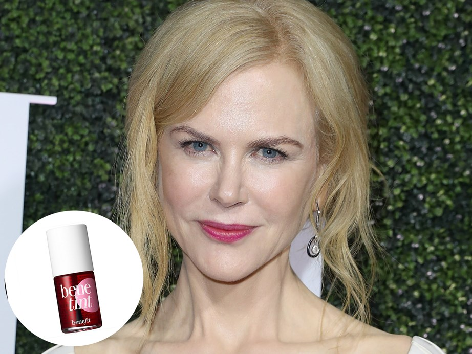 "Beauty chameleon Nicole Kidman is all about a space-saving, multi-purpose product these days.   ""I'm a mum, so I don't have a lot of room in my bag, but I always try to have an all-in-one product. I use Benefit Benetint on my lips and cheeks,"" she told *Allure*. [Benefit Benetint Rose and Cheek Stain](https://www.farmers.co.nz/6299920002?gclid=Cj0KCQjwnqzWBRC_ARIsABSMVTMoiZbyJ5fkFdw7gJbeTK3_UVhG9D_Ct5m12ZZhk_e68X1Et9RCfcgaAphTEALw_wcB