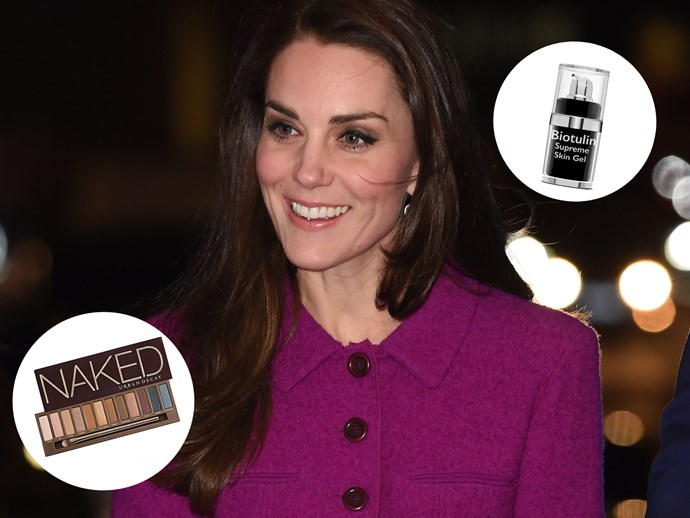 "When Duchess Kate caught up with the then-First Lady Michelle Obama, she shared a few beauty tips, recommending Biotulin Supreme Skin Gel which is a natural alternative to Botox, as well as the her favourite eyeshadows - the cult Naked Palette. [Biotulin Supreme Skin Gel, $104, Biotulin](http://biotulin.co.nz/product/biotulin-supreme-skin-gel/|target=""_blank""