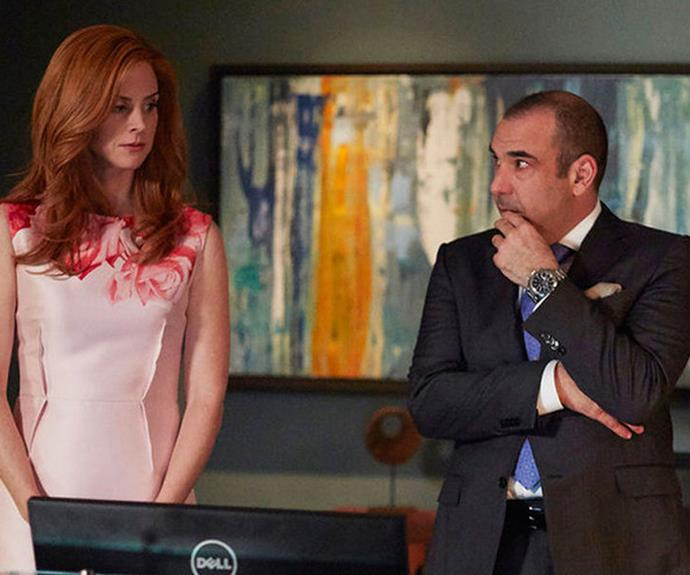 Sarah & Rick playing Donna & Louis on *Suits*