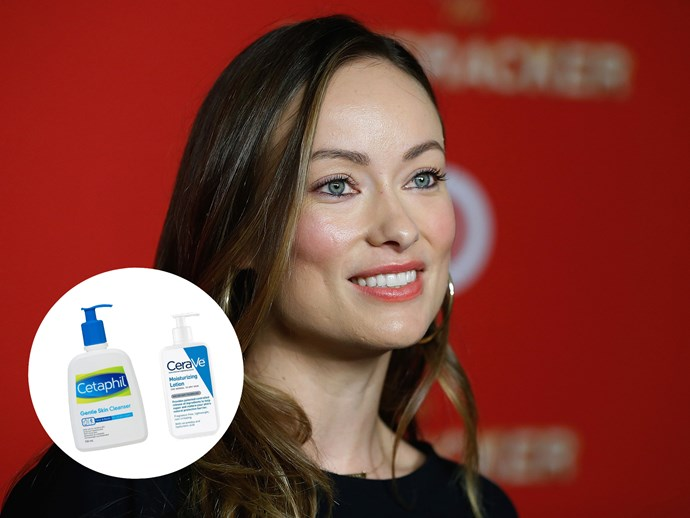 "Like us, Olivia Wilde takes a no-fuss approach to beauty. ""I use the cheapest possible skin care — not because it's cheap, but because it's the best,"" she told [Popsugar](http://www.popsugar.com/beauty/Olivia-Wilde-Beauty-Tips-Must-Have-Products-20745523 