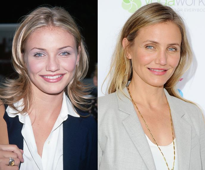 """Cameron Diaz is also not a fan of Botox. """"I've tried [Botox] before, where it was a little tiny touch of something. It changed my face in such a weird way. I'd rather see my face ageing than a face that doesn't belong to me at all."""""""