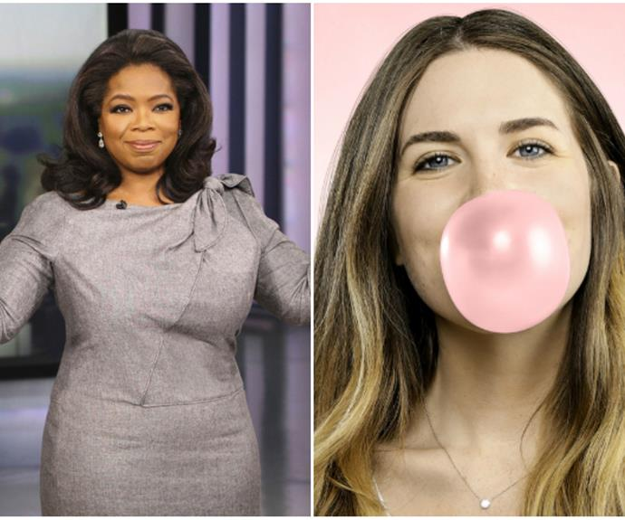 "Oprah's [fear of chewing gum](https://www.buzzfeed.com/jessemfink/21-celebrity-phobias-that-will-make-you-feel-better-about-yo?utm_term=.rwPEONM8vE#.qyZzYl9kMz|target=""_blank""