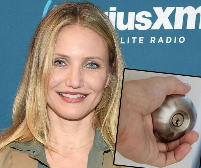 """[Cameron Diaz](http://www.nowtolove.com.au/celebrity/celeb-news/cameron-diaz-talks-about-her-blissful-marriage-to-benji-madden-5447 target=""""_blank"""")'s phobia is a tricky one - because it means it could almost make it impossible for her to open a door!   This is one A-lister who is legitimately [afraid of doorknobs](https://www.buzzfeed.com/jessemfink/21-celebrity-phobias-that-will-make-you-feel-better-about-yo?utm_term=.rwPEONM8vE#.qyZzYl9kMz target=""""_blank"""")."""