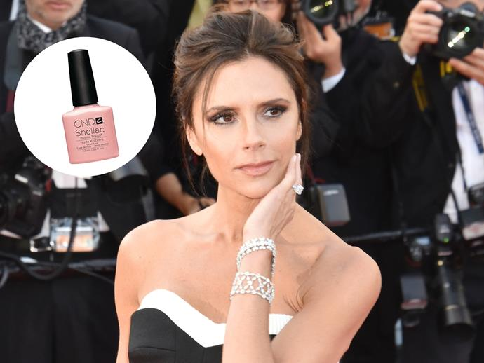 "When it comes to details, Victoria Beckham keeps things simple but well, posh. ""I love CND's Shellac Nude Knickers, which goes with everything and lasts for ages,"" she told [The Telegraph](http://www.telegraph.co.uk/fashion/people/victoria-beckhams-guide-to-summer-style/