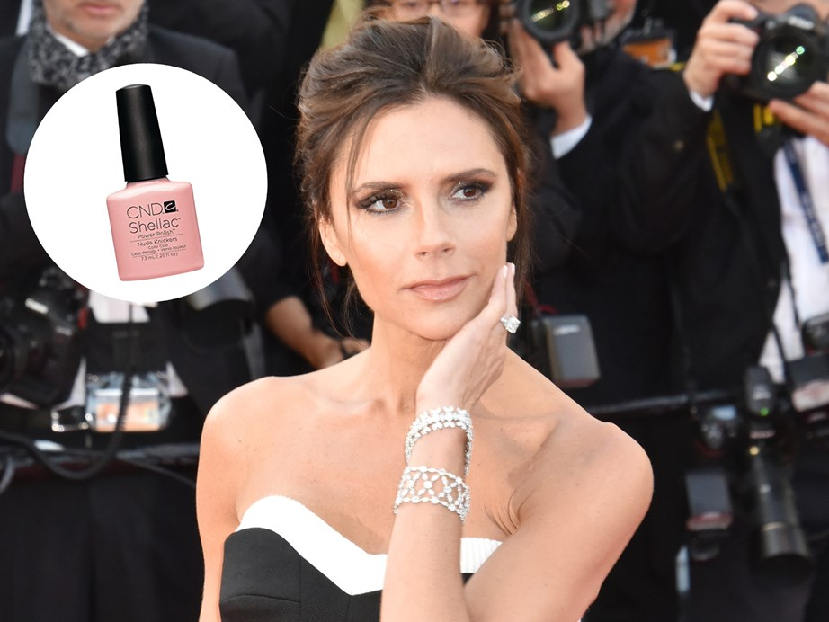 "When it comes to details, Victoria Beckham keeps things simple but well, posh.   ""I love CND's Shellac Nude Knickers, which goes with everything and lasts for ages,"" she told *The Telegraph*.  [CND Shellac Nude Knickers](http://www.wellpolished.co.nz/categories/cnd-shellac/nude-knickers?gn=CND%20Shellac&gp=80