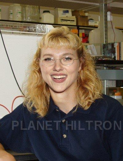"""Scarlett Johansson chose science over drama during her final year at school. She hopes to find a cure for frizzy hair.  All images via: [Planet Hiltron](https://www.facebook.com/pg/planethiltron/photos/?tab=album&album_id=150250888323779