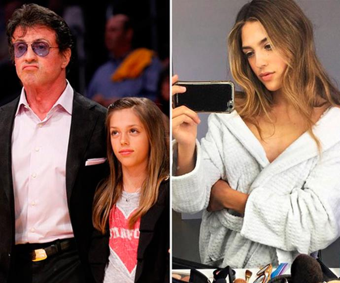 **Sistine Rose Stallone - Sylvester Stallone's daughter** <br><br> The 20-year-old is a model and was signed to IMG models.