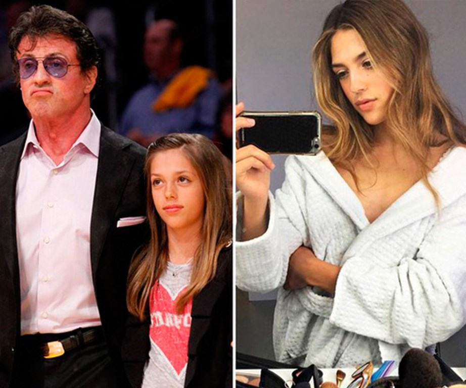 **Sistine Rose Stallone - Sylvester Stallone's daughter**  The 18-year-old was recently signed to IMG models.