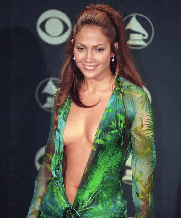JLo and The Dress has become one of the Grammy's most memorable red carpet looks.