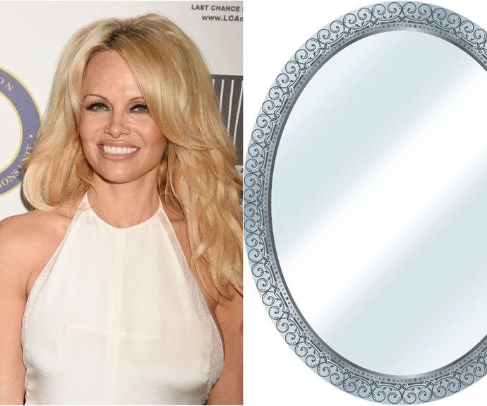 "Uber-glam Pamela Anderson has made a living from her babin' Baywatch bod, but chances are, she may not have seen it for herself as much as you may think. This is because Pam has a fear of [mirrors](http://www.stylist.co.uk/people/top-10-celebrity-phobias#art/|target=""_blank"")!"