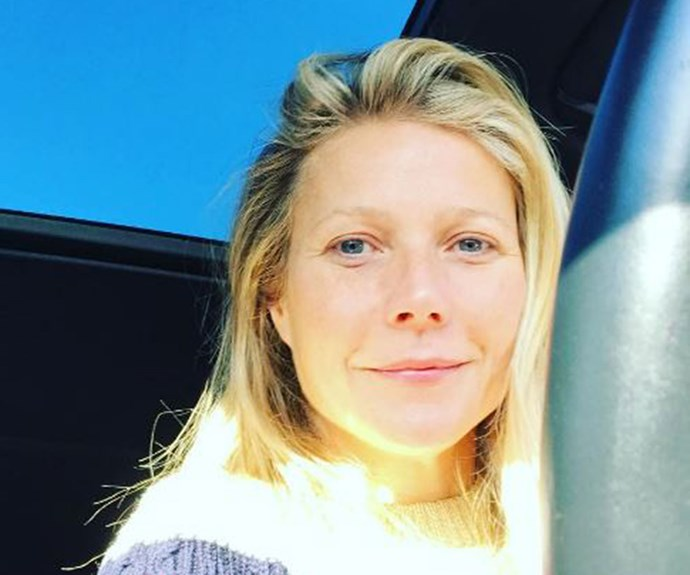 The Queen of natural beauty, Gwyneth Paltrow, snaps [a selfie](https://www.instagram.com/gwynethpaltrow/?hl=en) en route to a movie set.