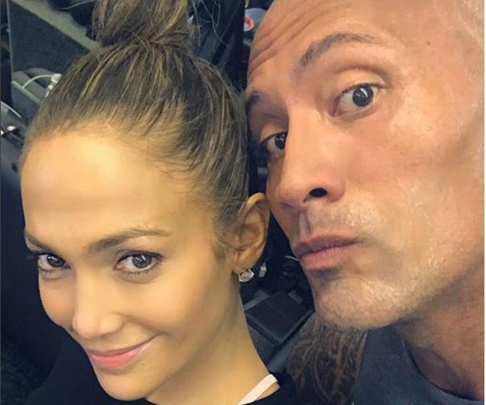 "[Jennifer Lopez](http://www.nowtolove.com.au/health/fitness/jennifer-lopezs-body-secrets-revealed-21868) looks flawless with The Rock after a [gym workout](https://www.instagram.com/p/BO8CTa0ARG2/?taken-by=jlo&hl=en|target=""_blank""