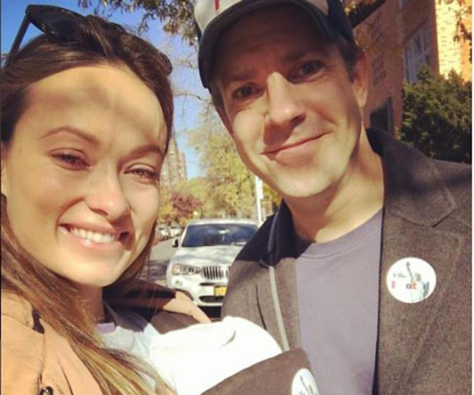 New [mum Olivia Wilde](http://www.nowtolove.com.au/beauty/hair/best-celebrity-hair-transformations-34013) shared this cute photo with her husband and daughter, looking fresh-faced and glowing. How does a sleep-deprived new mum look this amazing. No really, how?