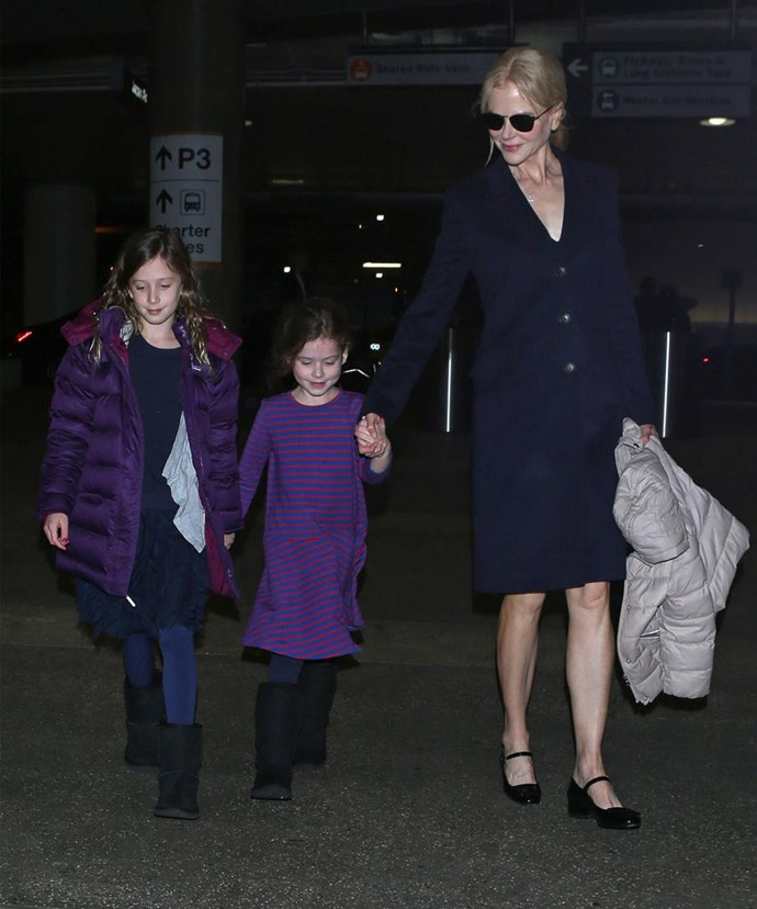 Nicole and Keith are proud parents to Sunday, 10 and Faith, seven. *(Image: Getty)*