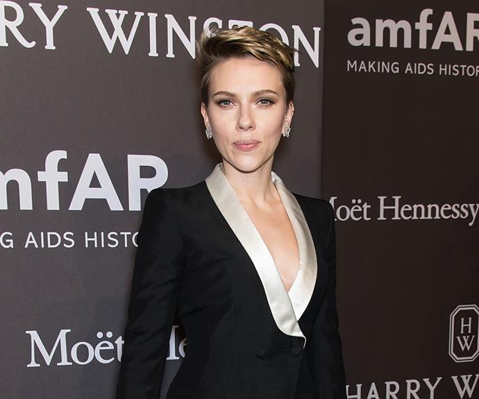 Scarlett at the amfAR Gala.