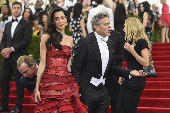 At the 2015 Met Gala, Amal gave George a lesson in always being ready for the camera.