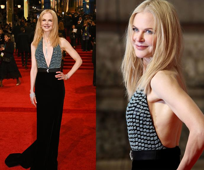Best Supporting Actress nominee Nicole Kidman confessed her daughters weren't fans of her Armani gown.