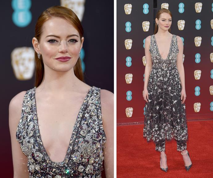 Emma Stone knows how to make an entrance!