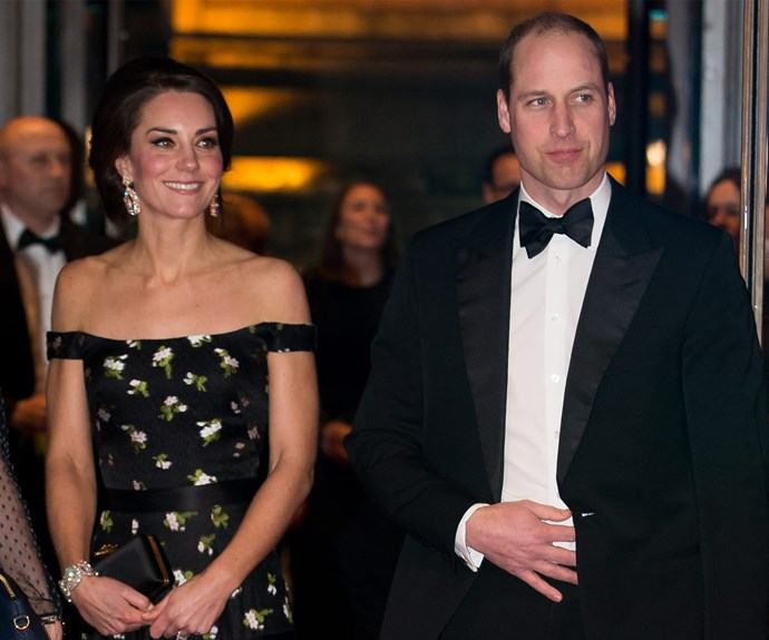 But the pair appear to have had a change of heart and were out in full force. Prince William, who looked dapper in a tux, is the president of the BAFTAs.