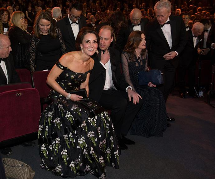 The Cambridges take their seat as the show kicks off.