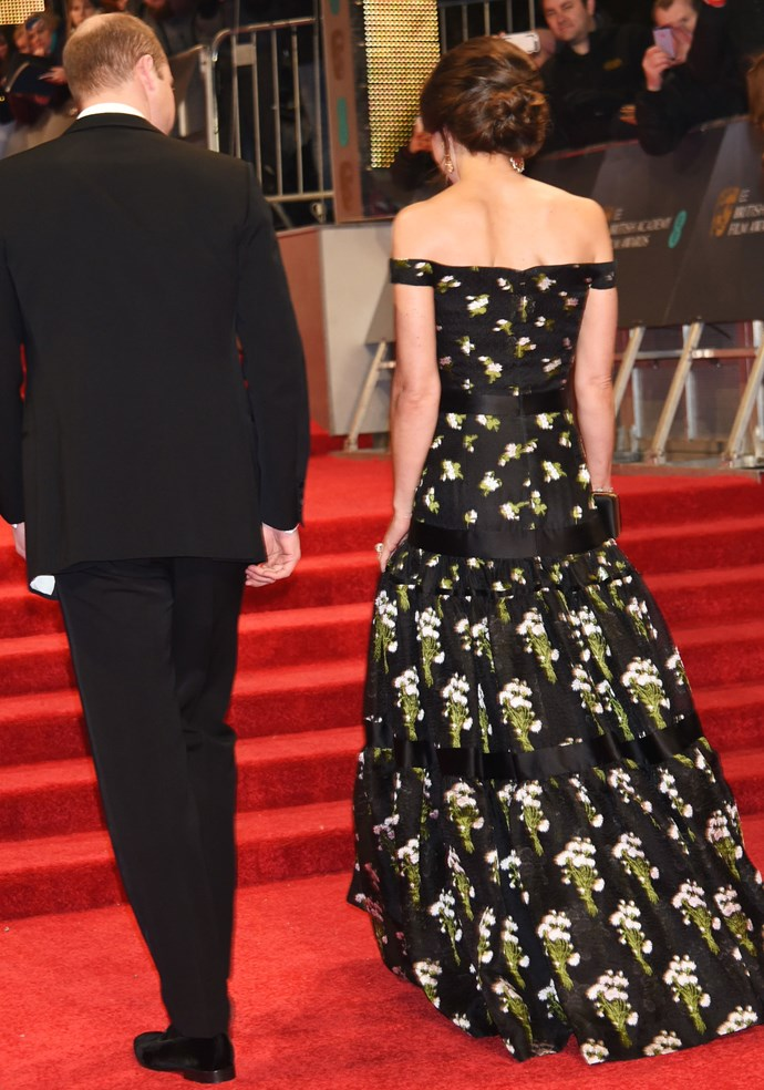 The dress was just as gorgeous from the back.