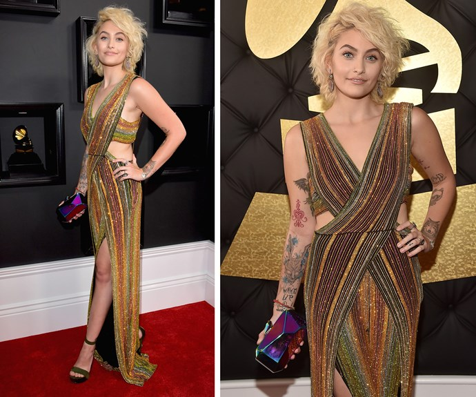 Paris Jackson gives us all a lesson in style in this Balmain jumpsuit. The aspiring model and actress revealed she's dabbling in making her own music.