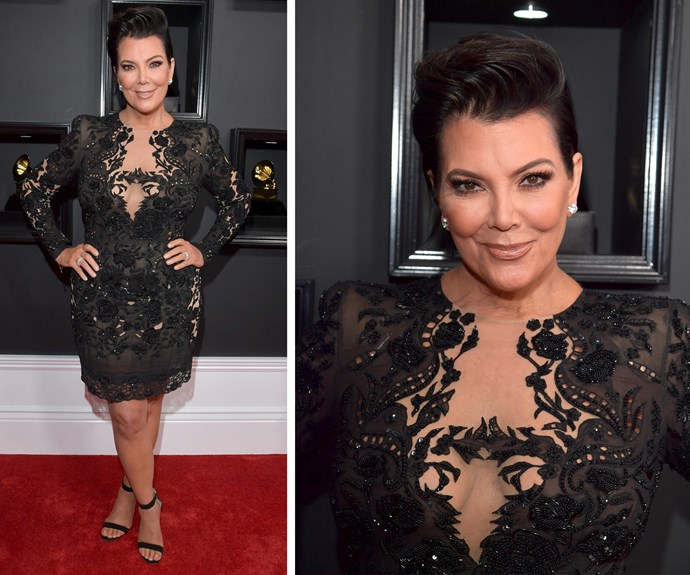 The Momager is here everyone! Kris Jenner keeps things classic in this LBD.