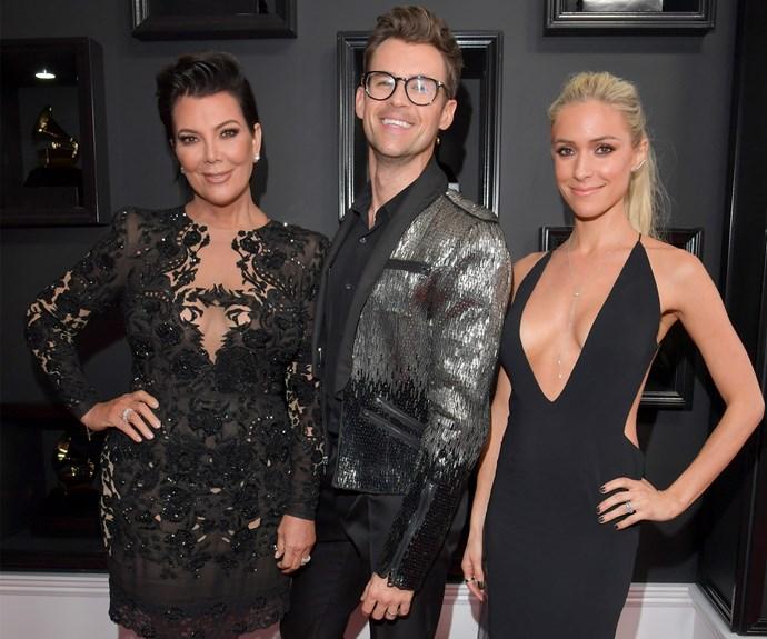 The *E!* gang Kris Jenner, Brad Goreski and Kristin Cavallari strike a pose.
