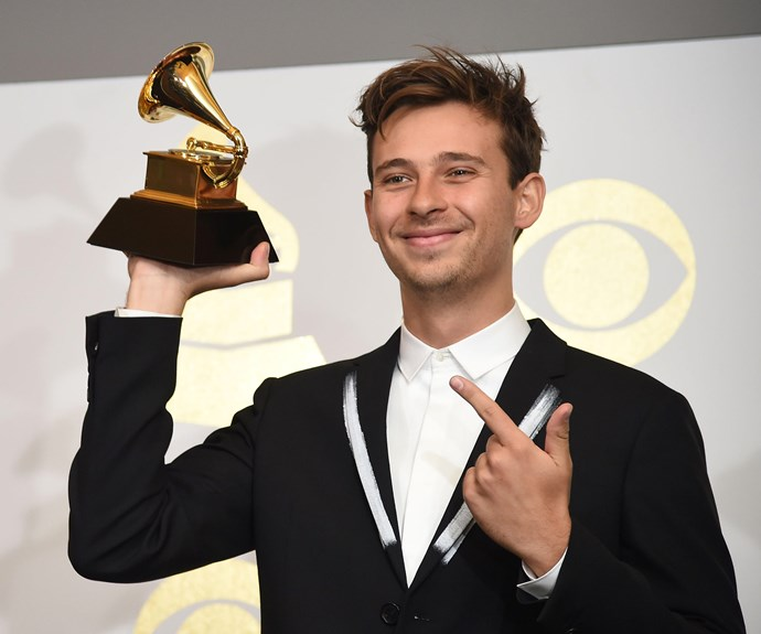Repping Australia! Sydney local Flume, 25, just won the Best Dance/Electronic Album for *Skin*.