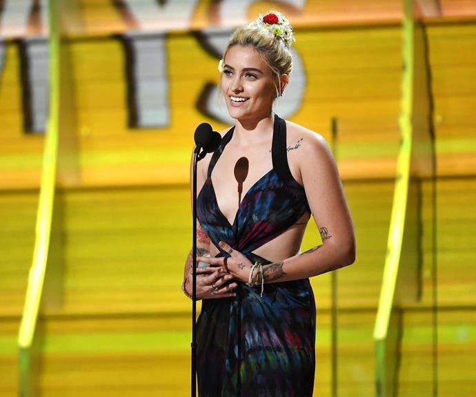 Paris Jackson stepped out in a dress she designed herself.