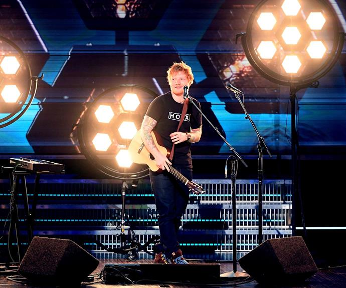 Australia one day, The Grammys the next. It's tough life hey, Ed Sheeran.