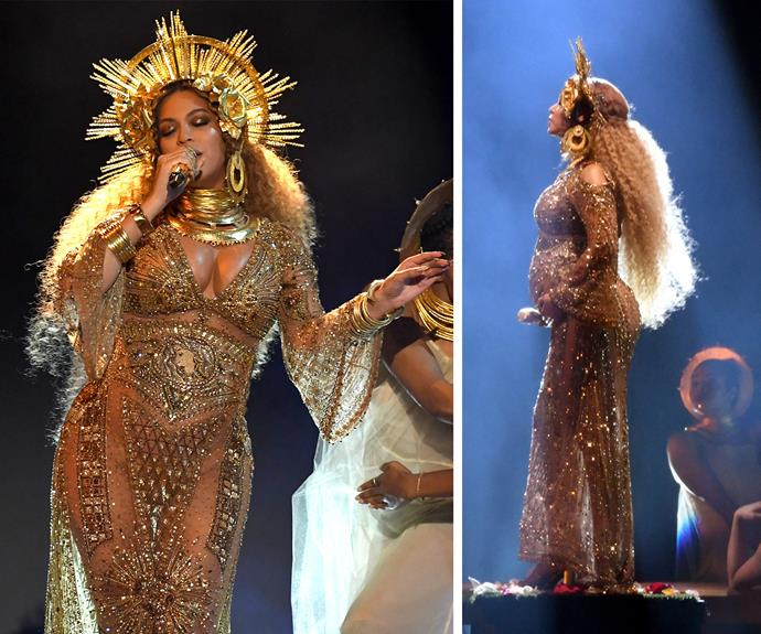This marks Beyonce's first official appearance since announcing she was expecting twins.