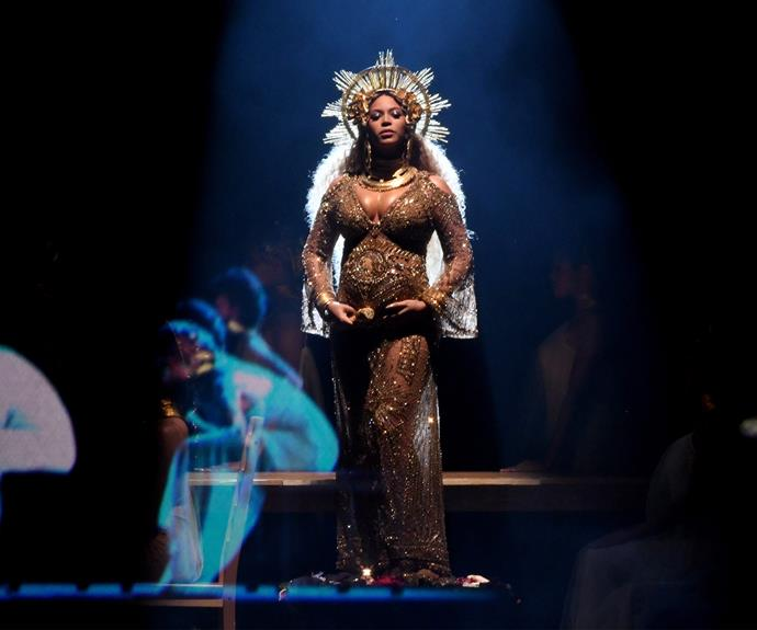 Beyonce radiated on the Grammys stage.