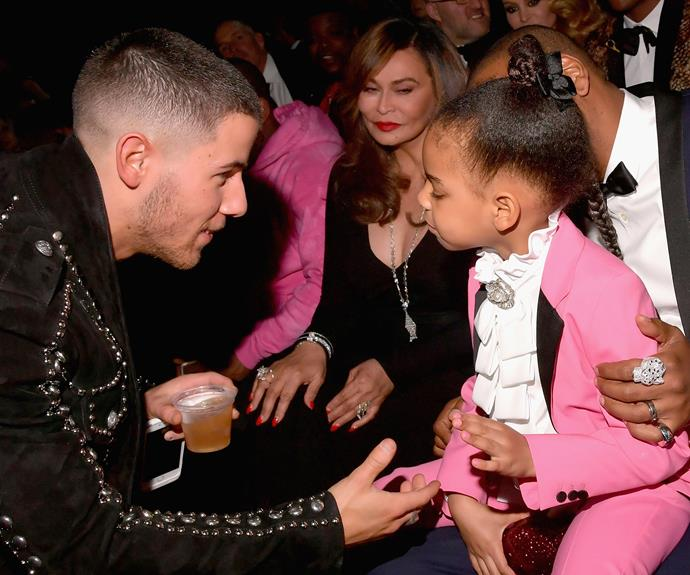 The big-sister-to-be showed some major sass as she contemplated the pros and cons of shaking Nick Jonas' hand.