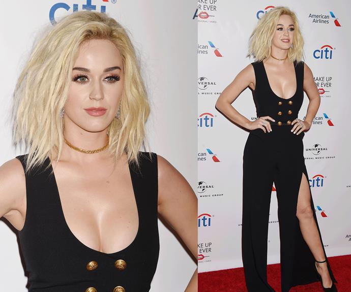 Katy Perry is rocking new blonde locks.