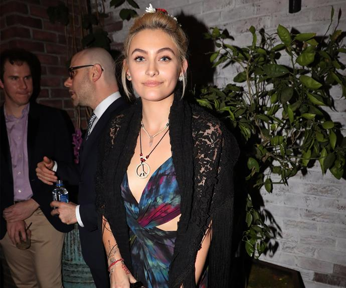 Paris Jackson, who presented an award earlier in the night, steps out at the Republic Records event at Catch.