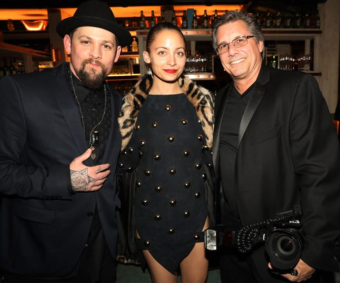 Joel Madden, Nicole Richie, and Kevin Mazur at the Republic Records event in West Hollywood.
