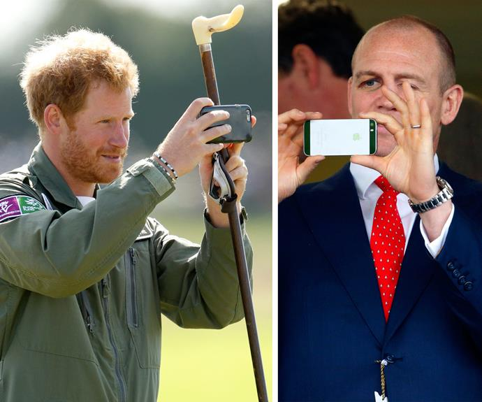 Prince Harry and Mike Tindall both know their way around smart phones... With their royal connections, we're guessing they'll get to the second round of interviews!
