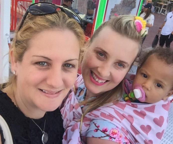 Mel, Teresa and little Nina enjoy a day out together.