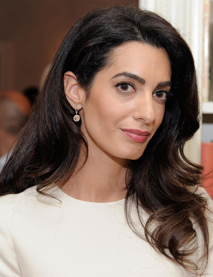 "**VOLUMINOUS HAIR:** If there was a battle of the blow-dries between Duchess Kate and Amal, it would be a close finish. Both have big, bouncy and impossibly glossy hair. Her hair stylist Max Cole told [Vanity Fair](http://www.vanityfair.com/style/2014/09/amal-alamuddin-s-wedding-day-hair-by-max-coles|target=""_blank""