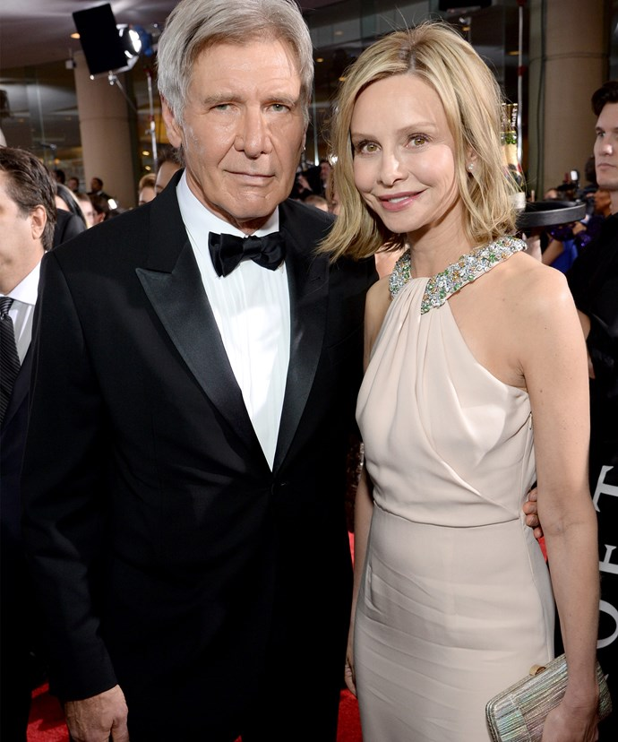 Harrison's wife Calista Flockhart says she supports her husband's dangerous hobby.
