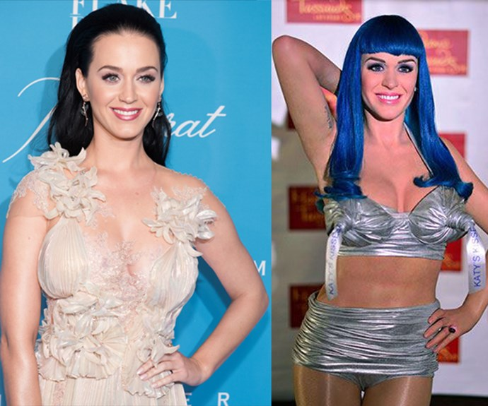 Katy Perry is close, but a blue wig doesn't fix the problems here.