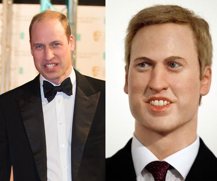 Prince William loves to suit up and if you squint real hard and tilt your head to the left, this wax replica mostly passes for the royal.