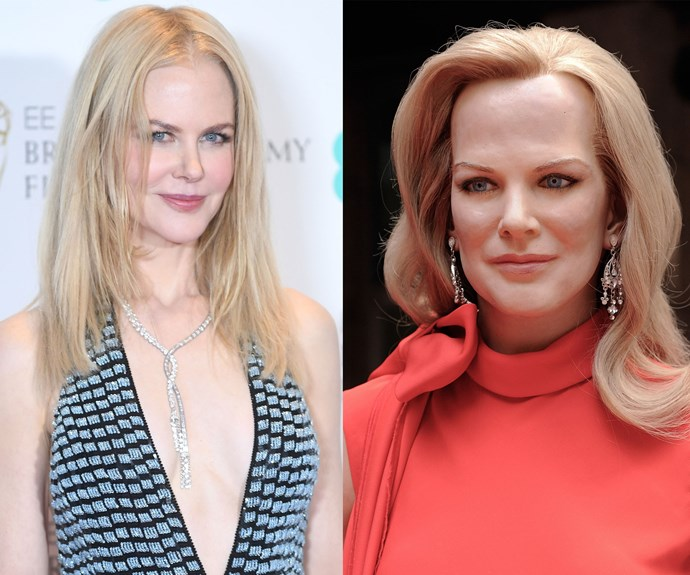 If she wasn't labelled, we'd have no idea this was meant to be Nicole Kidman.