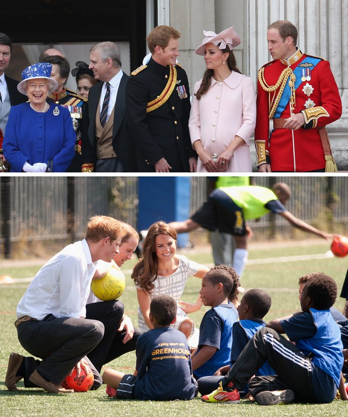 The trio will be using their Granny, Queen Elizabeth's place to host the tea.