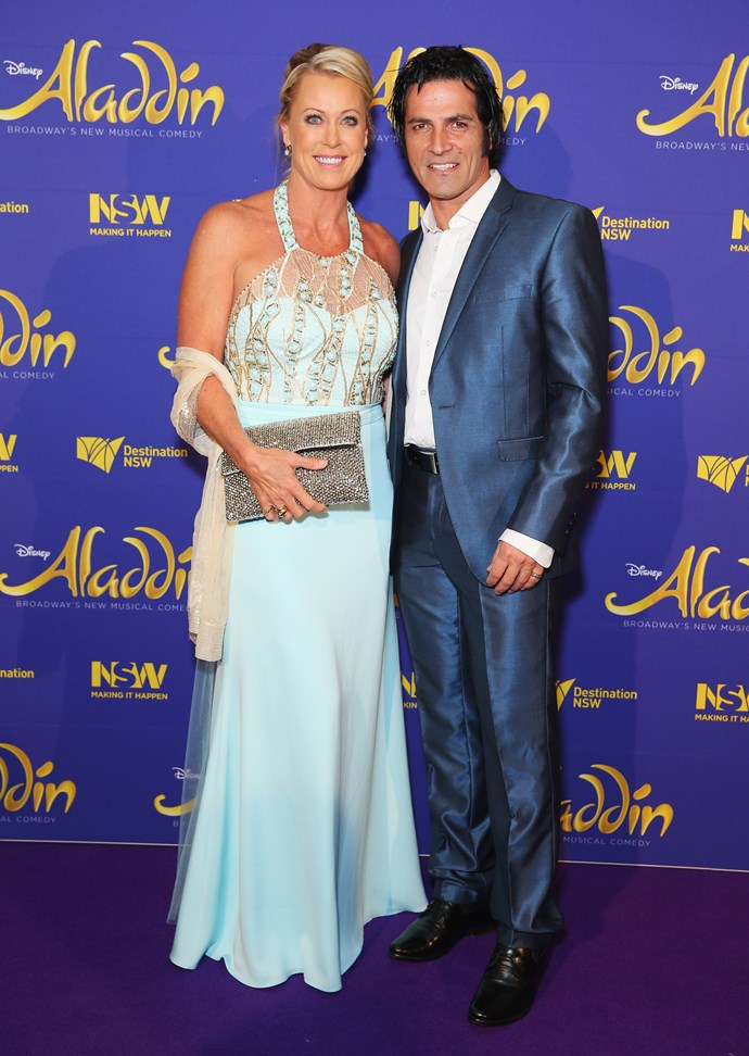 Lisa and Mark at the opening night of *Aladdin* in August last year.