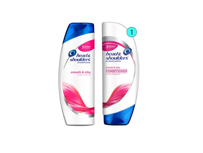 1. Head & Shoulders Smooth & Silky Shampoo and Conditioner, $12.49 each, headandshoulders.com.au