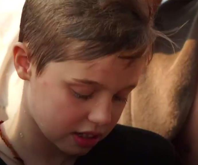 Shiloh tries a spider. (Image/BBC World News)