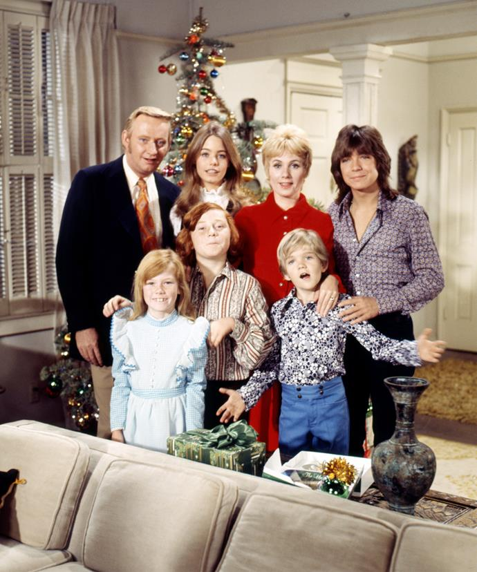 The cast of The Partridge Family, including David on the far right, back in 1973.